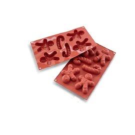 ◆全國食材◆義大利Silikomart 36.106.00.0060 6連薑餅人矽膠模/ 多連矽膠模