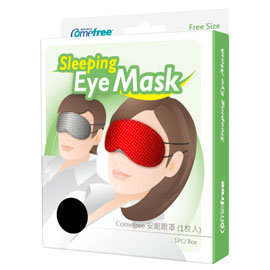 【Comefree】安眠眼罩1枚入 CF-91107(格紋/紅點兩色可選)