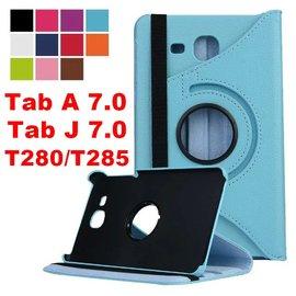 三星 Tab J 7.0/Tab A 7.0 T280/T285 平板旋轉支架保護套 荔枝紋 保護殼 皮套 側翻 <font color=\'red\'>Samsung</font> 7吋 H-20