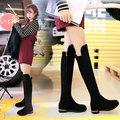 【韓國KW】Y1230-9 下架-時尚百搭瘦腿長筒靴-黑