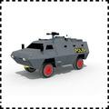 普通噴墨打印版印尼警用4×4 APC裝甲車 紙模型 1:33 軍武宅 軍模 軍事戰車 手工