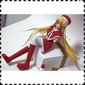 普通噴墨打印版素體少女 Xmas 動漫人偶 紙模型 玩具 3D紙模 手工DIY