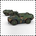 普通噴墨打印版德國Zobel輕型裝甲偵察車 紙模型 1:35 軍車模型吉普悍馬現代戰車
