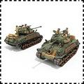 超高質量激光打印版美國M4A3E8狂怒中型坦克 紙模型 1:30 坦克模型 謝爾曼 fury 手工