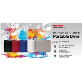 Toshiba 東芝 Connect II V8 1TB USB3.0 2.5吋行動硬碟