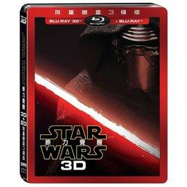 BD藍光:Star Wars: 原力覺醒 3D+2D 限量鐵盒3碟版 (DTS-HD)(Blu-ray)