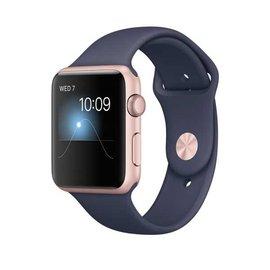 Apple Watch Series 2 智慧型手錶 (42mm) / A ,42公釐玫瑰金鋁金屬錶殼搭配午夜藍色運動型錶帶