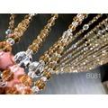 潔西卡水晶 [工廠直營] B061 手工台製純白水晶珠簾 風水適用寬80長152公分適用一般房門