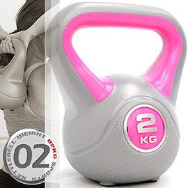 KettleBell 2公斤壺鈴 4.4磅 2KG壺鈴C171~1802拉環啞鈴搖擺鈴.舉