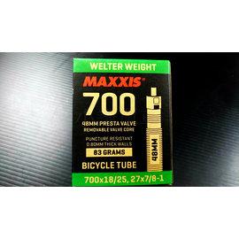 ~小謙單車~ 盒裝瑪吉斯 MAXXIS 700×18 25C可拆式法嘴內胎 48mm長