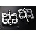 【小謙單車】全新X-FREE_658 超輕量鋁合金CNC四培林踏板--銀色