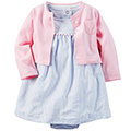 【hella 媽咪寶貝】美國 Carter / Carter\'\'\'\'s 嬰幼兒春夏外套洋裝包屁衣組 氣質優雅(CTGSCD025)