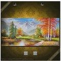 [銀聯網]聚寶盆手繪風景油畫(140X70厘米)
