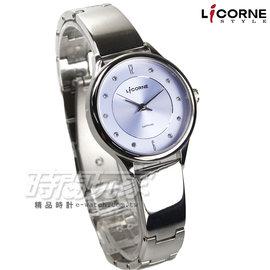 LICORNE 力抗錶 Entree恩萃 悠閒午後時尚都會晶鑽女錶 防水手錶 精品錶 學生錶 粉紫 LT027LWVS