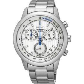SEIKO CS線條時尚計時腕錶 / 8T68-00A0S/ SSB203P1
