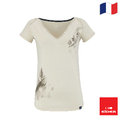法國【EiDER】女排汗透氣印花短袖V領衫 /  7EIV3995