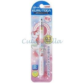 日本三菱KURU TOGA 360度旋轉自動鉛筆0.3mm限量版,迪士尼公主-小美人魚,現貨商品不必等!