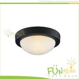 Fun照明  E27~1 單燈 工業風 黑框 玻璃燈罩 吸頂燈  陽台 玄關 走廊 廁所