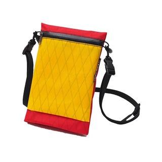 【HANCHOR 台灣】SURFACE MINI 輕量化斜背包-紅黃色 護照包 旅行隨身袋 (OD05)