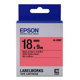 EPSON 18mm標籤帶 紅底黑字 5RBP LC-5RBP