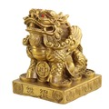 特大號 高15.9cm雙角銅貔貅擺件 客廳辦公室風水貔貅裝飾品 工藝品