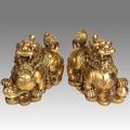 特大號一對-特價結緣銅雕 開光純銅貔貅擺件 金錢貔貅招財擺設 大號 公母一對送禮
