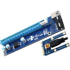 伽利略 mini PCI~E to 16X 大4 pin MPEU302A