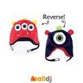 Malldj親子購物網 - 加拿大 Fapjack kids  雙面保暖造型帽-大眼怪/三眼怪【L】 #PBB7008023820001