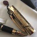 義大利AURORA 達文西紀念筆 半金琺瑯 鋼筆