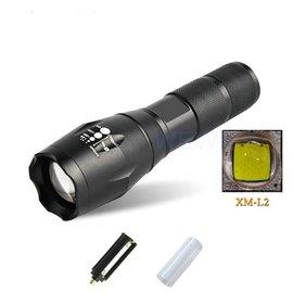 CREE XM~L2 爆亮 魚眼 LED 變焦手電筒 維修 停電 登山露營 18650鋰電