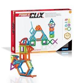 【美國GuideCraft】磁力空心積木-48件 增加親子互動兒童發展玩具
