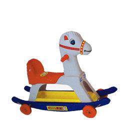 金德恩 台灣製造 二合一 小白馬搖搖車 滑步車 划步車 搖搖馬