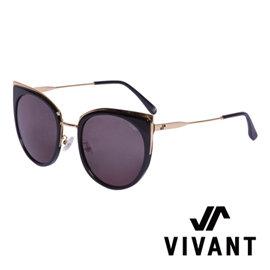VIVANT 愛戀系列金屬貓眼太陽眼鏡.黑【AMOUR C1】