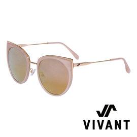 VIVANT 愛戀系列金屬貓眼太陽眼鏡.棕【AMOUR C3】