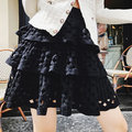 ~Love Fei 艾菲~〔內有實拍〕針織摟空蛋糕裙 黑色 XS-M/L 預購款