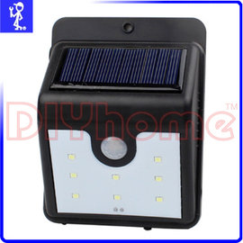 太陽能充電戶外照明燈 8LED 自動感應燈 庭院燈景觀燈防盜燈壁燈 免拉線 # Y503948
