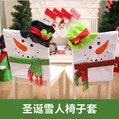 聖誕裝飾品 聖誕雪人椅子套 聖誕椅子套 聖誕餐桌裝飾─預購CH2542