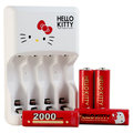 Hello Kitty『電力凱蒂』2000mAh低自放鎳氫充電電池組KT-TG01