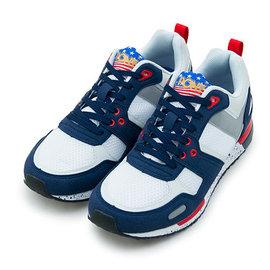 【PONY】繽紛韓風復古慢跑鞋 EMPIRE Campus系列 藍白紅 53M1EP63NB 男