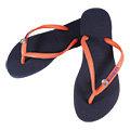 【BELEZA】havaianas哈瓦仕 神秘水晶骷顱款平底人字拖 (靛藍+粉橘) 夾腳拖鞋 海灘鞋