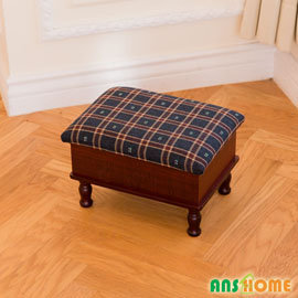 《閱讀歐洲》古典茶几收納椅凳(紅格)