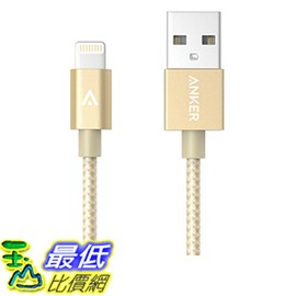 [106美國直購] Anker 6ft Nylon Braided USB Cable with Lightning Connector for iPhone 6s 6 Plus 充電線 傳輸線