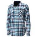 【Wildland 荒野】 男 彈性格子布保暖襯衫 格紋/長袖襯衫/格子襯衫 0A12202-52海藍色