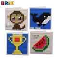 特價美國BRIK 字母卡片組合套裝(猴子、西瓜、鯨魚、獎盃)