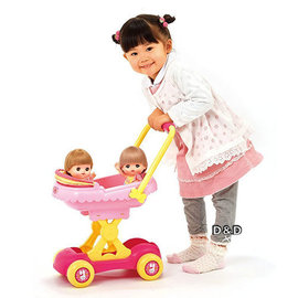 《 日本小美樂 》小美樂配件 - 雙人遮陽小推車╭★  JOYBUS玩具百貨