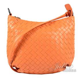 【全新現貨 補8個】茱麗葉精品 BOTTEGA VENETA 465917 經典編織羊皮長揹帶肩背包.橙現金價$21, 800