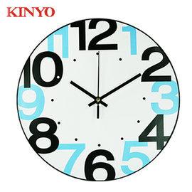 KINYO 金葉 CL-148 時尚簡約靜音掛鐘12吋 時鐘 /  個