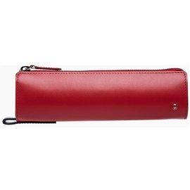 MONDAINE 瑞士國鐵  牛皮筆袋 ~ 紅  黑 XW~090309R K