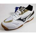 [陽光樂活=] 美津濃MIZUNO基本型體羽球鞋 排球鞋 GATE SKY 寬楦 - 71GA174009(白X黑X紅)