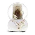 讚爾藝術 JARLL~浪漫雙心 相框 水晶球音樂盒(GG01196)【天使愛美麗】新婚禮物/婚禮佈置 (現貨+預購)